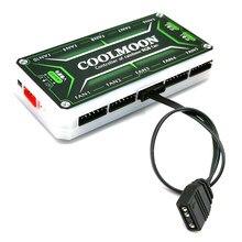 Coolmoon – câble adaptateur de contrôleur de ventilateur, 5V, 3 broches vers petit, 4 broches/6 broches, pour convertisseur ARGB, pour ordinateur