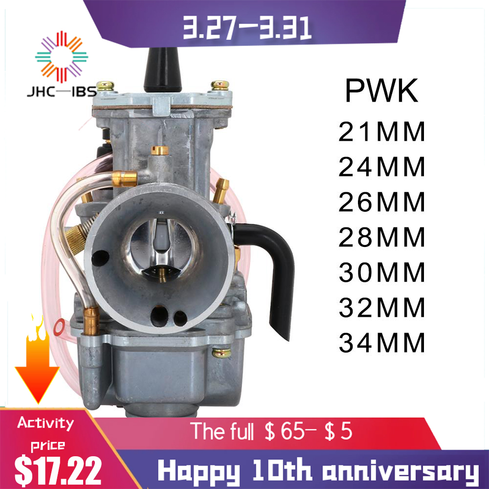 Motorcycle <font><b>PWK</b></font> 21 24 26 28 30 32 <font><b>34MM</b></font> Carburador <font><b>PWK</b></font> Carburetor Carb For Universal ATV Buggy Quad Go Kart jet Dirt Racing Bike image