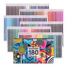 Farbowanie ołówków, profesjonalny zestaw 180 kolorów miękki wosk na bazie rdzeni, do rysowania, szkicowania, cieniowania kolorowanki, Pro artystów