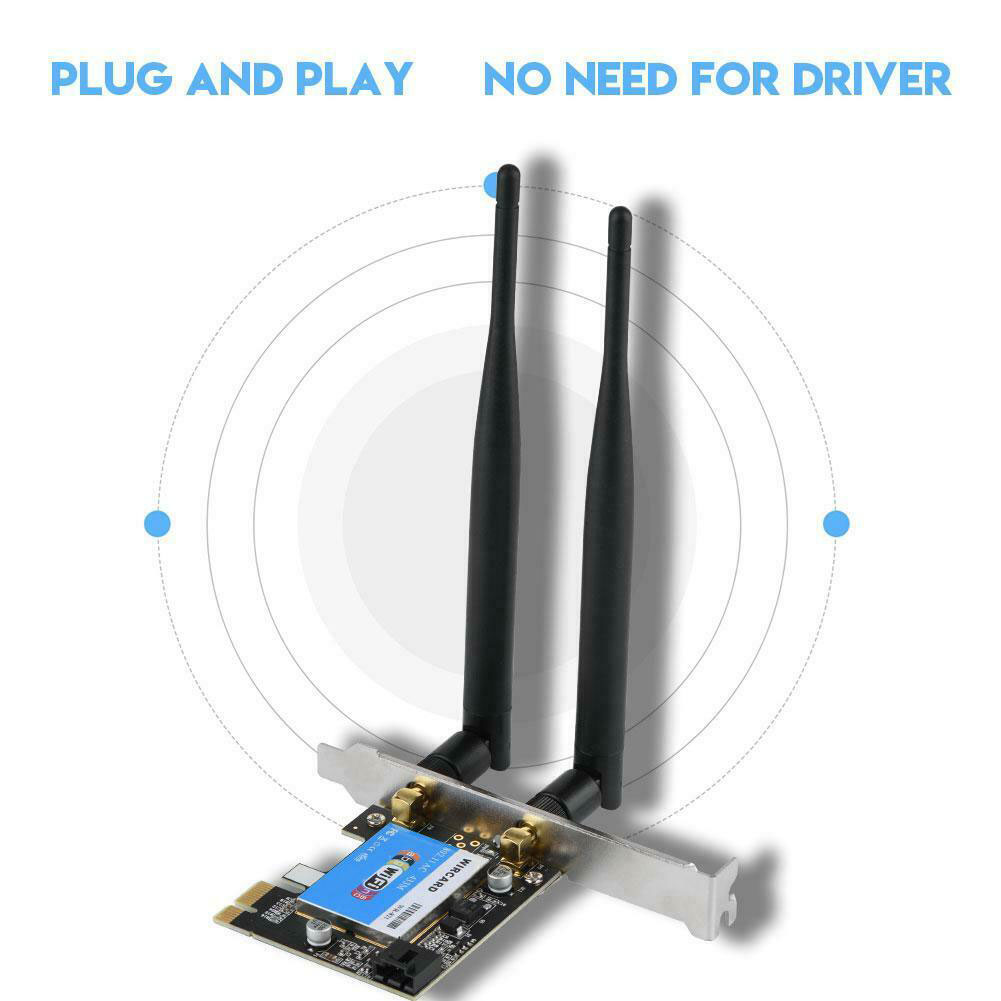 2.4 5G 433M WIFI Network Card Stable Replacement High Compatibility PCI-e Desktop PC Bluetooth Transmission Office Wireless Fast