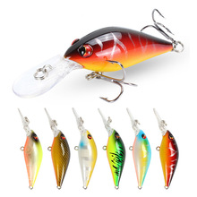 цена YUZI 80mm 8.5g Crankbait Fishing Lure Artificial Hard Crank Bait Bass Fishing Wobblers Japan Topwater Minnow Fish Lures онлайн в 2017 году