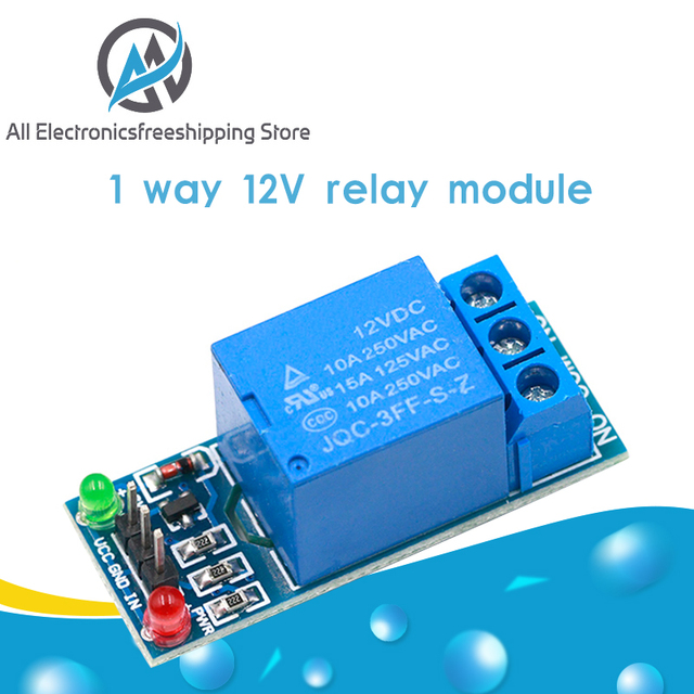2PCS 12V One 1 Channel Relay Module Optocouple Board Shield For PIC AVR Arduino