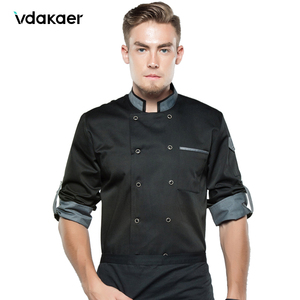 chef shirt Chef Jacket Long Adjustable Sleeve Men Women Unisex Cook Coat Restaurant Hotel Kitchen Wear Waiter Uniform(China)