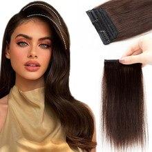 Натуральные волосы для наращивания Mrshair с зажимом, короткие волосы для наращивания, 10-25 см, наращивание волос с зажимом, человеческие волосы ...