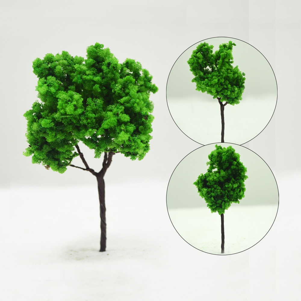 100pcs Sand Table Model Building Kits Ho Scale Green Tree Miniature Landscape Wire 9cm Toys The Micro Structures DIY Plastic