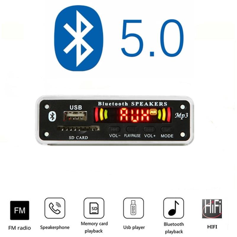 5V-12V Car Fittings  Mp3 Player Bluetooth MP3 Decoder Board MP3 Card Reader MP3 Bluetooth Module Audio Accessories With FM Radio