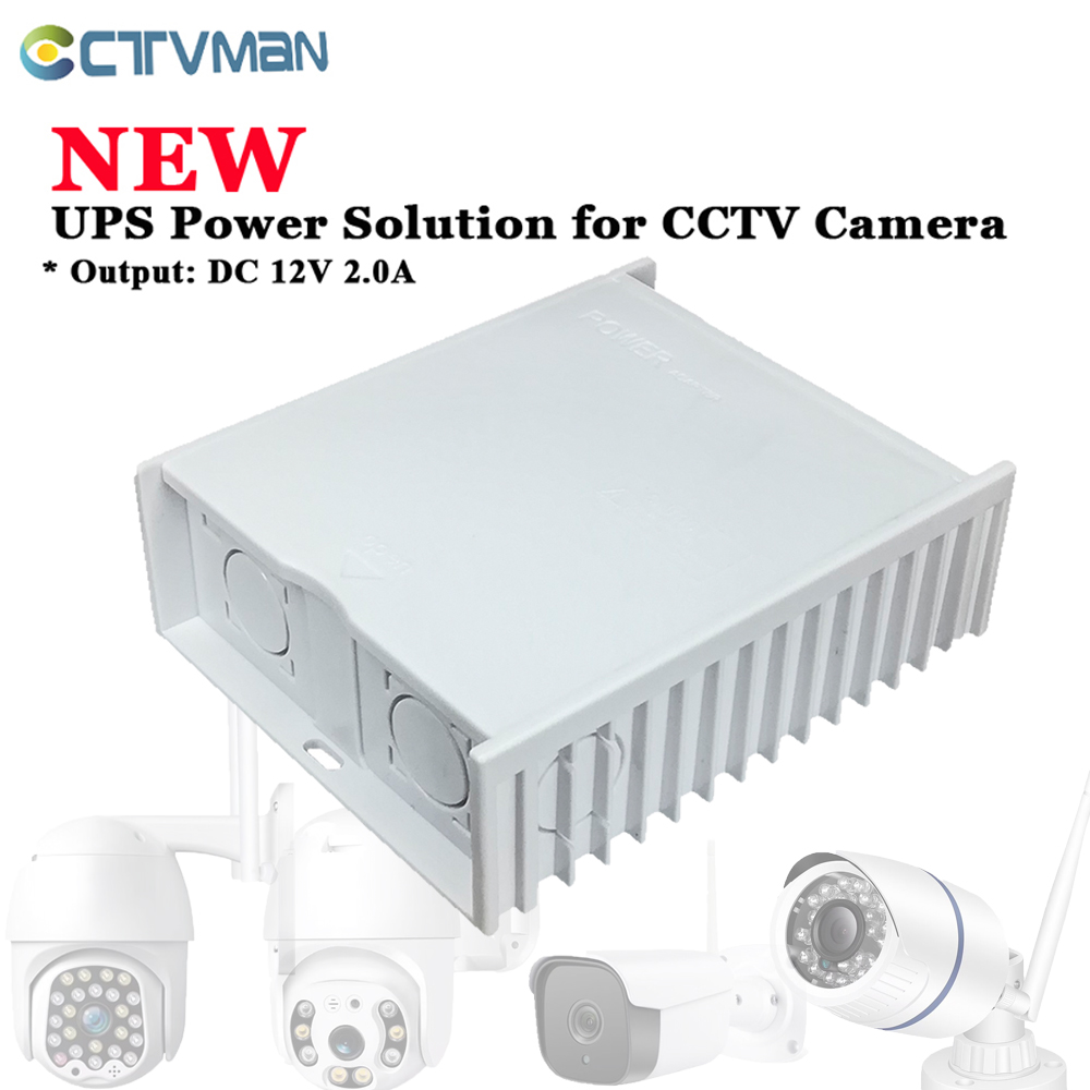 CTVMAN UPS Power Supply Mini UPS DC For CCTV UPS 12V DC 12V Power Adapter  For CCTV IP Camera Surveillance Security