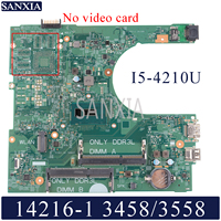 KEFU 14216-1 Laptop anakart Dell Inspiron 3458 3558 için orijinal anakart I5-4210U