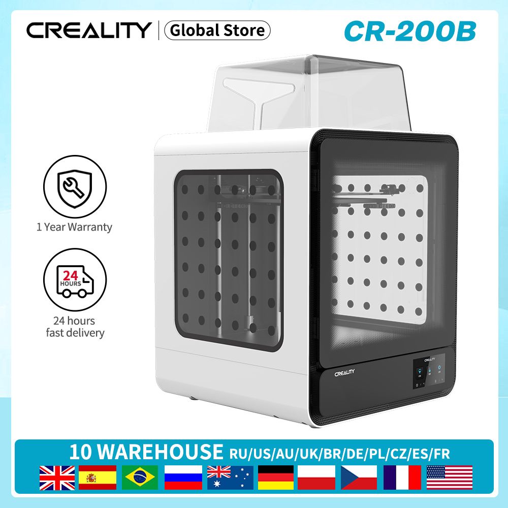 CREALITY 3D CR-200B 3D printer Enclosed Filament Detect Resume Printing Power Off Color Touch Screen