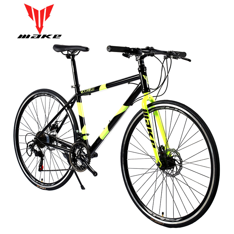 Road <font><b>Bike</b></font> MAKE 700X25C 21 Speed Disc Brakes Steel Frame image