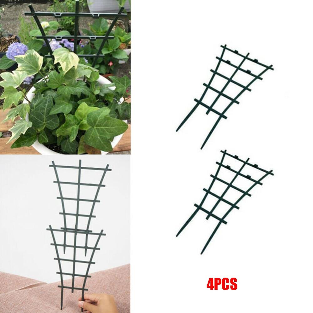 4PCS Plant Support Rack Garden Plastic Trellis Flower Vines Climbing Stand