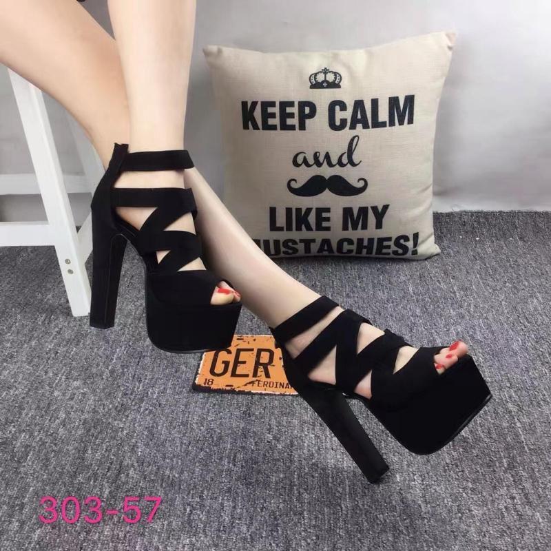 Avec des sandales Super haute avec plate-forme étanche discothèque chaussures pour femmes haute