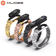 For Xiaomi Mi Band 5 6 Metal Strap Stainless Steel For Xiaomi Mi band 3 4 Bracelet Metal Replacement Strap For Mi Band 5