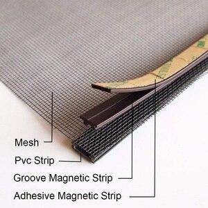 Image 4 - Регулируемый магнитный оконный экран «сделай сам», окна для автодомов, съемная моющаяся невидимая москитная сетка для мух, сетка на заказ