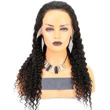 Парики из человеческих волос с глубокой волной и t образной