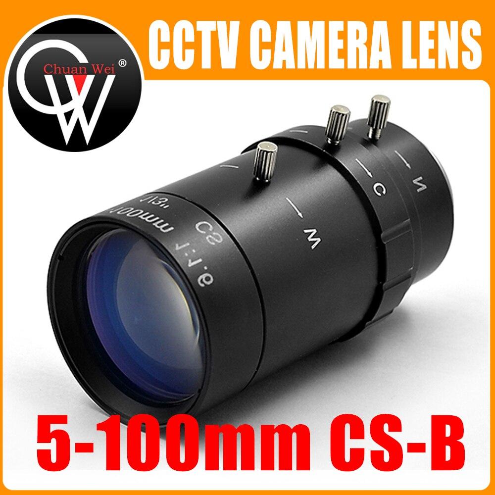 New HD 5-100mm CS F1.6 Lens 1/3