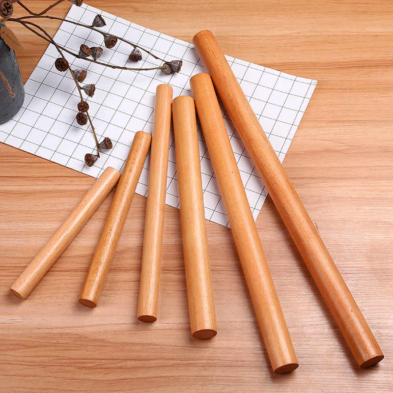 5 Size Wooden French Rolling Pin Fondant Cookies Cake Pastry Tool Dough Roller