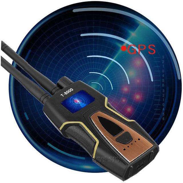 T8000 Radio RF Signal Detector Portable Anti Spy Hidden Camera Detector GSM Audio Bug Finder GPS Scanner Large Detection Range 6