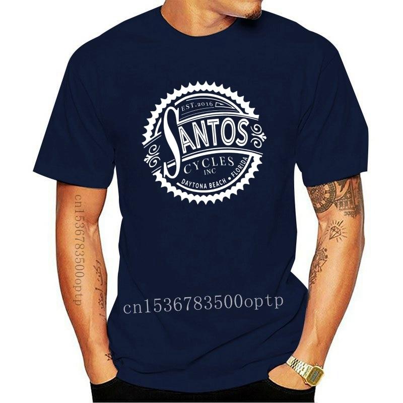 2020 Fashion Hot Sale New Santos Cycles Daytona Beach Florida Short Sleeve Black Men's T-Shirt S-3XL Tee shirt