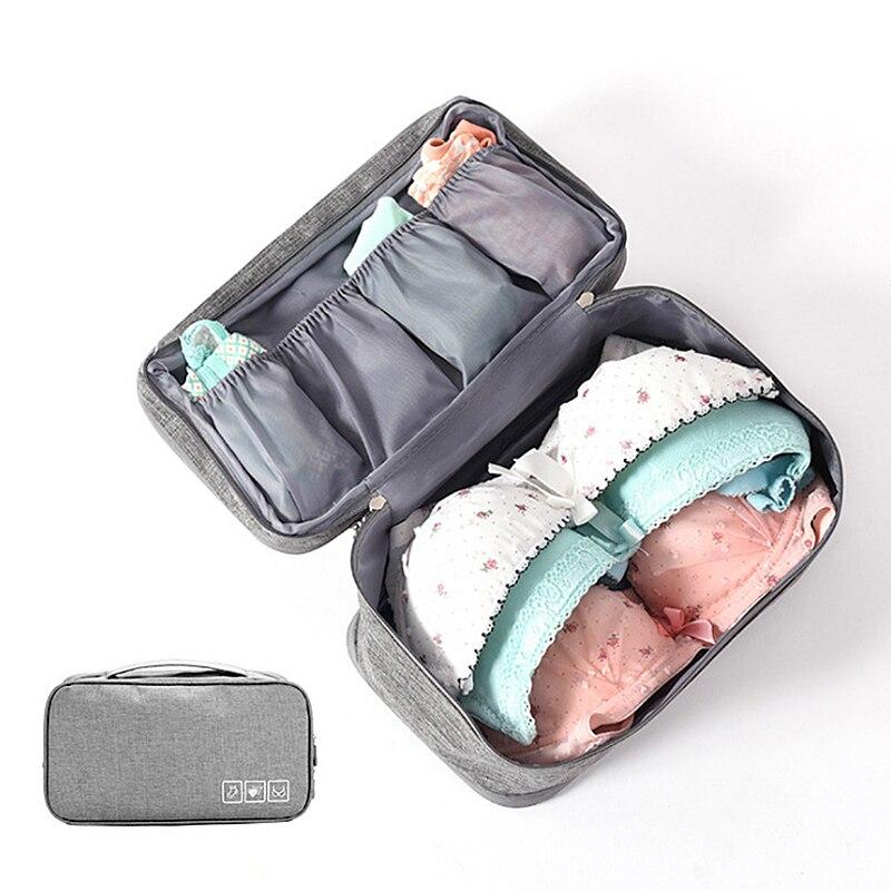 Portable Travel Makeup Storage Bag Cationic Bra/Underwear/Socks Isolated Bag Portable Multi-Layer Bmakeup Box Organizadores