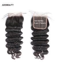 Добавить красивые волосы закрытия Свободные глубокие кружева