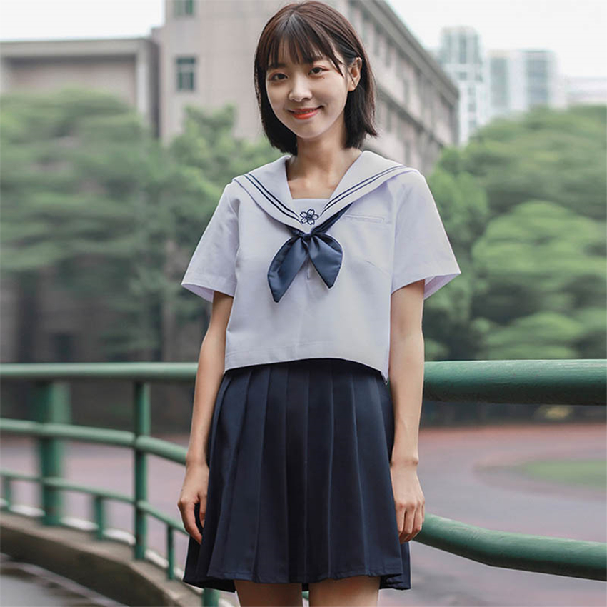 School Uniform For Girls Japanese Style Anime Cosplay Sailor Suit JK Academy Navy Students Kawaii Graduation Prop School Skirt