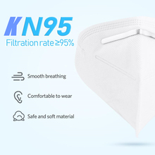 10 PCS N95 NonWoven Masks Safety Antibacterial Face Masks Disposable Thickened soft and elastic masks 95% Filtration mouth masks