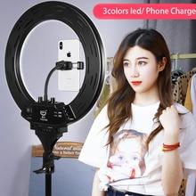 Кольцевой светильник, 14 дюймов, 1 держатель для телефона, для съемки фото и видео