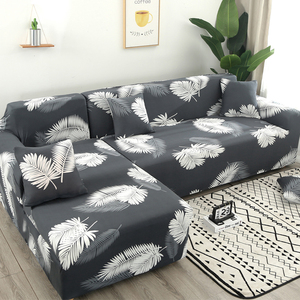 Image 5 - Housse de canapé dangle imprimée et élastique, lot de 2 pièces extensibles en L pour salon, 1/2/3/4 sièges