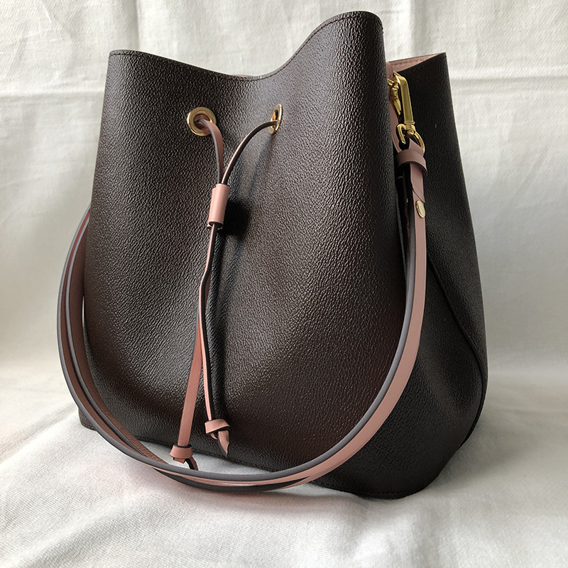 Luxury Bag Luis Vuiton Neo Bucket Bag  For Women 2019 Top Quality Designer leather Shoulder Bag Fashion Noe Shopper Bag Women-in Shoulder Bags from Luggage & Bags