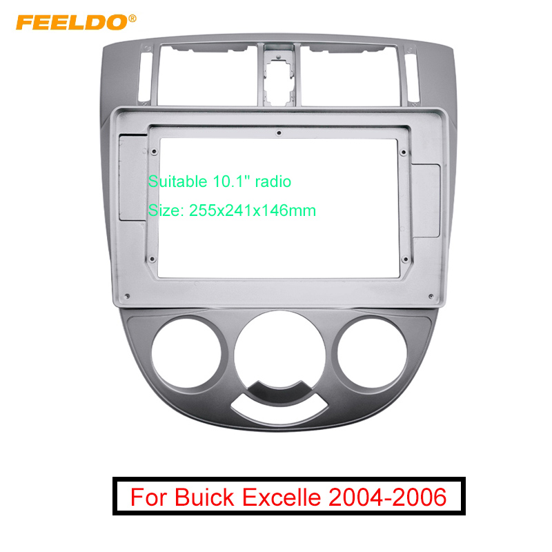 FEELDO Car Stereo 2IN Panel Fascia Frame Adapter For Buick Excelle 10.1 Inch Big Screen Dash Fitting Plate Frame Trim Kit