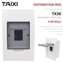 Distribution Box Circuit Breaker Panel Waterproof Dustproof 4 6 8 12 15 18 Ways  Surface Mounted Wall Electric Box Plastic Iron