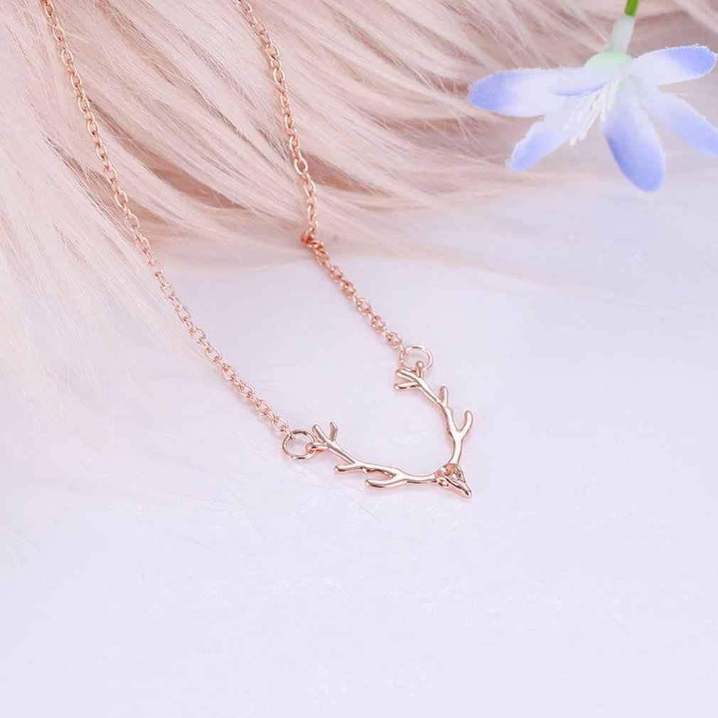 Christ Christmas Little Antler Deer Head Elk Necklace Classic Color Chokers Necklaces For Women Girls Wish Fashion Jewelry