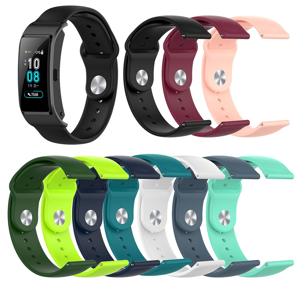 18mm Silicone Wrist Strap For Huawei Replacement Women's Wrist Standard Version Smart Wristband Sport Bracelet Band B5