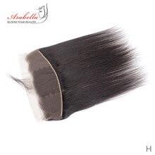 13*4 الدانتيل أمامي شعر بيروي أملس مع شعر الطفل أرابيلا اللون الطبيعي شعر ريمي الدانتيل أمامي