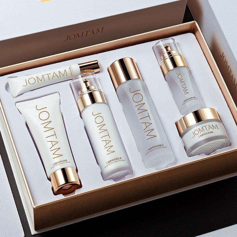 Jiumeitang two split yeast set, pore shrinking small white tube set, moisturizing and moisturizing skin care product set