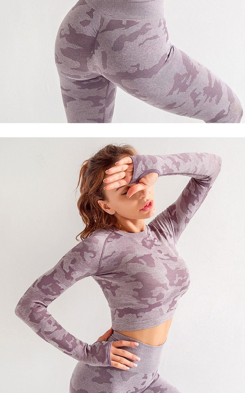 Nova mulher apertado correndo yoga oco sem