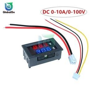 10 pçs mini digital voltímetro amperímetro dc 100 v 10a carro display led painel amp volt tensão atual medidor testador detector ao ar livre