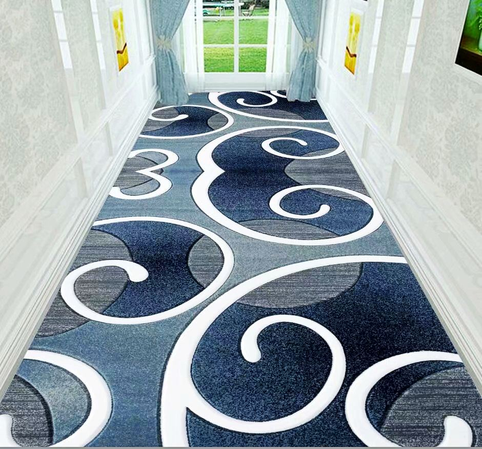 European Style Long Carpet For Stairway Corridor Hallway Carpets Nordic Home Hotel Runners Rug Party Wedding Area Rugs Customize