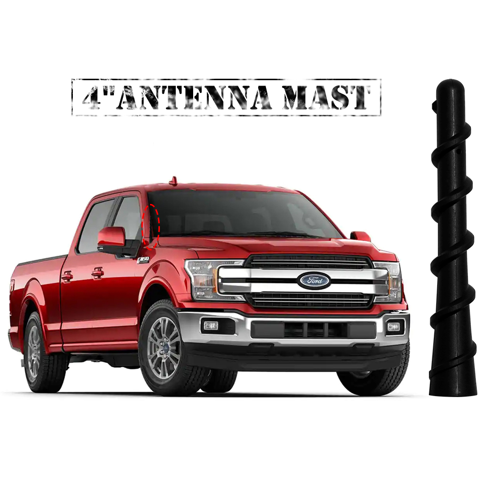 4 Inch ANTENNA MAST Black for Ford F-150 F150 F 150 2009-2019 NEW