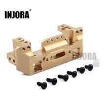 INJORA Soporte frontal de Metal y Latón para servomotor, trepador de control remoto para coche 1/10, Traxxas TRX4 TRX 4, TRX 6 piezas de mejora
