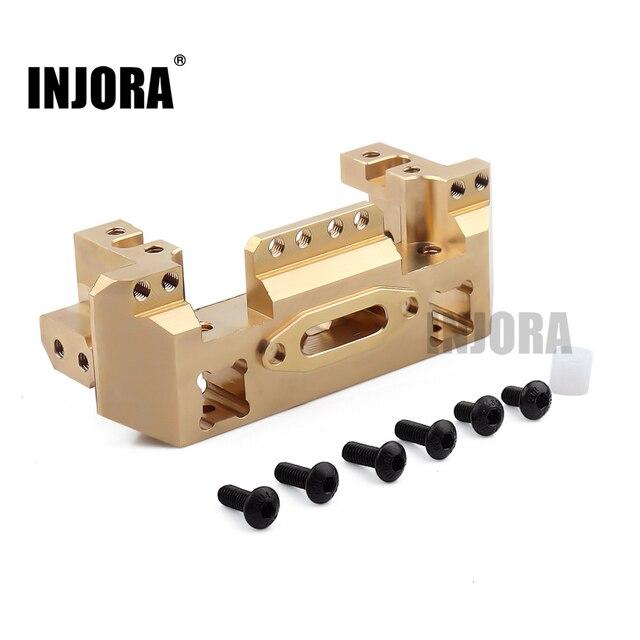 Injora metal bronze frente servo suporte para 1/10 rc carro rastreador traxxas trx4 TRX 4 TRX 6 atualizar peças