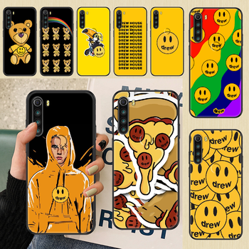Drew Justin Bieber Phone case For Xiaomi Redmi Note 7 7A 8 8T 9 9A 9S 10 K30 Pro Ultra black painting hoesjes fashion shell soft image