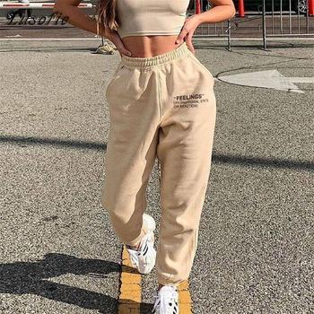 Lusofie Harajuku Joggers Wide Leg SweatPants Women Trousers High Waist Pants Streetwear Korean Casual Pant Femme Fall New 2020 - discount item  50% OFF Pants & Capris