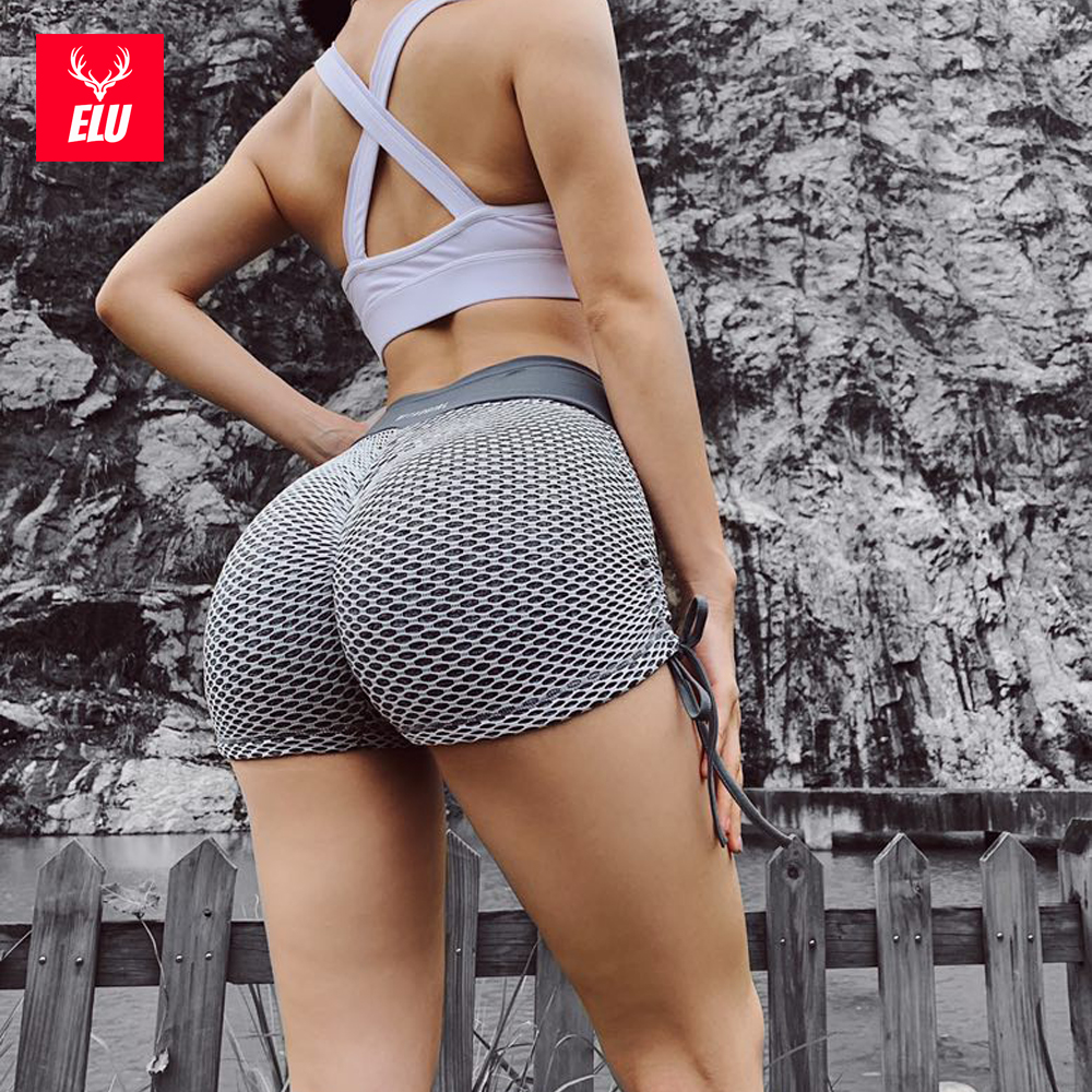 Women High Waist Yoga Shorts Scrunch Gym Fitness Ruched Sports Hot Pants Workout