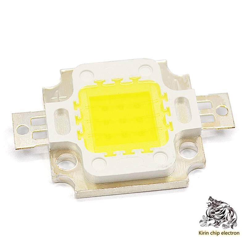 5PCS/LOTHighlight Is White10W High-PowerLED Light Emitting Diode White Light Integrated Light Source Lamp Beads Double Gold Line