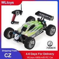 WLtoys A959-A/B 1:18 2.4GHz 4WD RC auto 35/70 KM/H ad alta velocità RC auto da corsa telecomando elettrico veicolo fuoristrada giocattoli