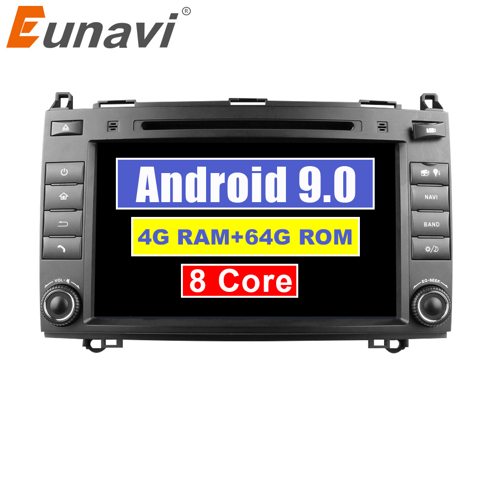 Eunavi 2 Din Octa Core 8'' <font><b>Android</b></font> 9.0 Car DVD <font><b>GPS</b></font> For <font><b>Mercedes</b></font>/Benz C Class <font><b>W203</b></font> 2004-2007 C200 C230 C240 C320 C350 CLK W209 04 image
