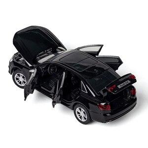 KIDAMI 1:32 AUDI A4 сплав модель автомобиля Металл литье под давлением игрушки для детей коллекции/Литые автомобили Выдвижной Автомобиль мальчик игрушка автомобиль подарок