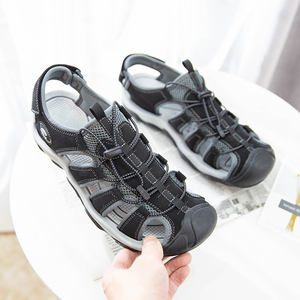 Image 5 - Fashion Men Beach Sandals size 39 46 Men Roman Style Sandals Summer Leather Shoes for Beach Outdoor Walking shoes male